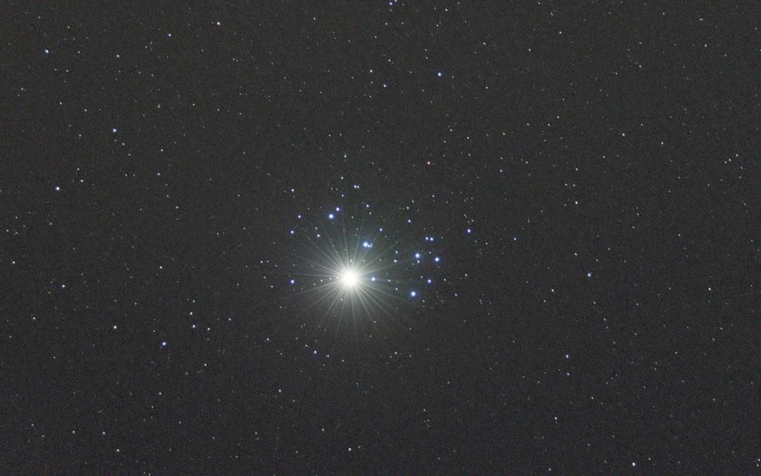 Congiunzione Venere-Pleiadi 3 aprile 2020
