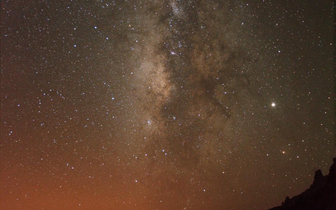 La Via Lattea sulla Caldera del Taburiente