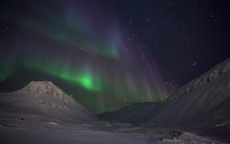 Aurora Boreale dalle Svalbard