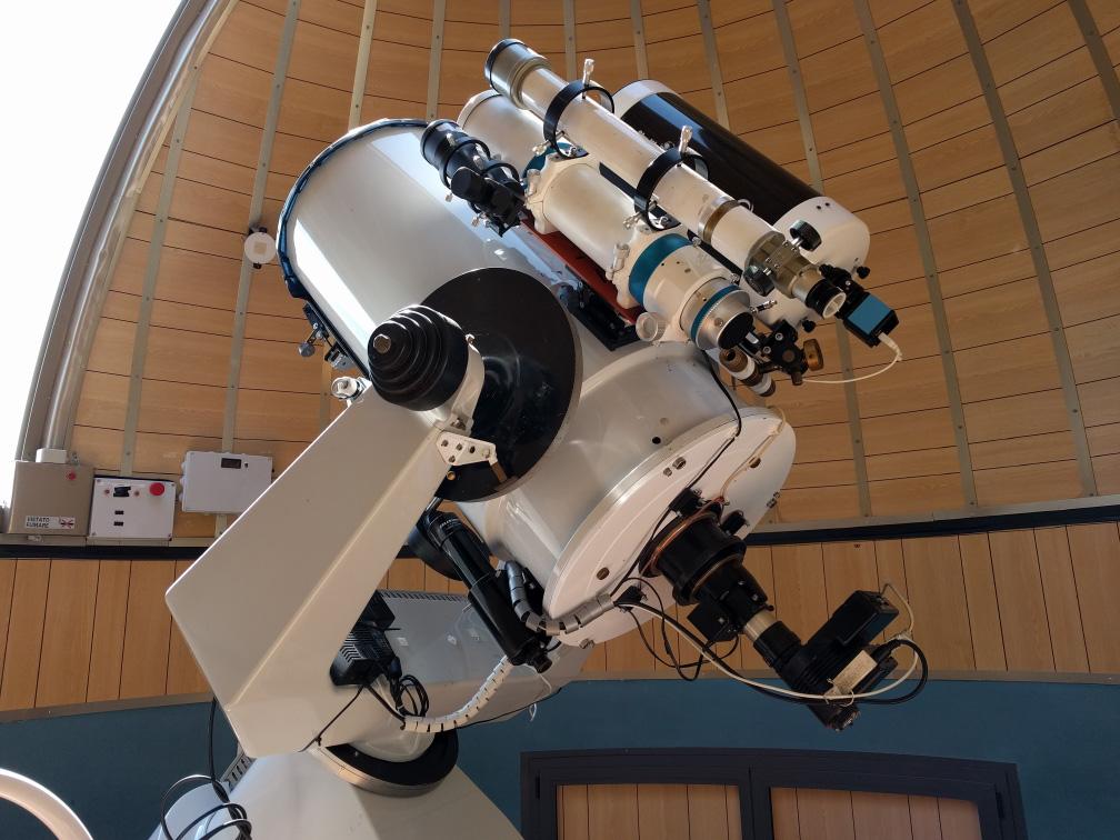 Il telescopio dell'Osservatorio Astronomico Serafino Zani