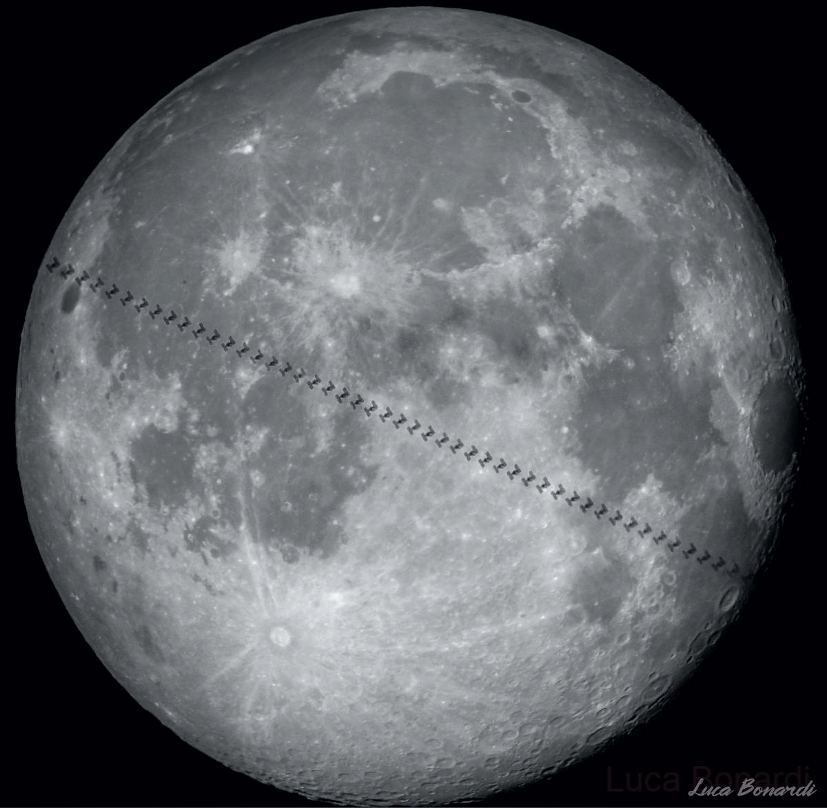Transito ISS sulla Luna del 12 gennaio 2020